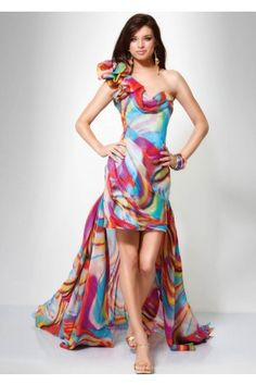 a0465c58eb carnival fabric Colorful Prom Dresses