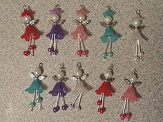 10 frosted flower Angel/Fairy/charm/pendant/dangley legs/mixed/dangle/wing | - Zeppy.io