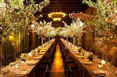 Muy otoñal! Mesas alargadas para tu boda.