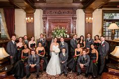Bridal Party in lobby, Madison Hotel Wedding, Photos by Idalia Photography, visit www.idaliaphotography.com