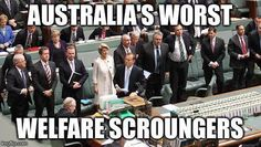 MT @traceywithhope S C R O U N G E R S #1wordforAbbottGovt absolutely, all governments are