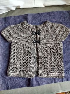 Ravelry: Project Gallery for Baby Sweater on Two Needles (February) pattern by Elizabeth Zimmermann