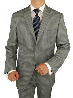 Bianco B Men's Gray Stripe Trio Three Piece Suit Extra Pants Gray http://www.menssuithabit.com/men-suits-clothing/bianco-b-men-s-gray-stripe-trio-three-piece-suit-extra-pants-gray-5570.html