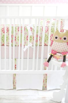 Pedal Pusher in Pink 2-Piece Crib Bedding Set at Jack and Jill Boutique