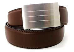 A new kind of belt for men - perfect fit with no holes. Shown; evolve buckle with brown belt. Shop @ http://www.KoreEssentials.com