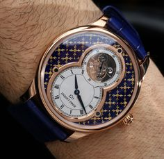 """Jaquet Droz Grande Seconde Tourbillon Paillonnée Watch Hands-On - by Ariel Adams - Learn more about this 8-piece run now at: aBlogtoWatch.com - """"One of the newest Jaquet Droz Grande Seconde Tourbillon watches from the boutique Swiss watch maker (that is probably the smallest and most unique high-end brand under the Swatch Group umbrella) is this eight-piece limited edition reference J013033242 Grande Seconde Tourbillon Paillonnée you see here. I last covered another version..."""""""