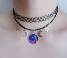 Stars Choker Necklace - Shop for Stars Choker Necklace on Wheretoget