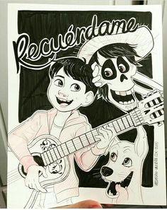 Hector y Miguel rivera de coco Pixar