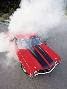 Classic Car Burnout