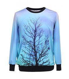 3d T-shirt Deadwood Tree Print Sweatshirt Hoodie Pullover Tops Tracksuit Jumpers