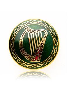 celtic harp brooch; I love scouting flea markets to find a little trinket or a treasure like this for my winter jacket lapel or if I am feeling exceedingly cheeky, on my hat!