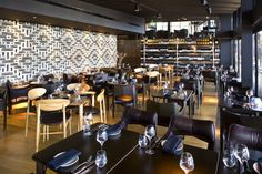 Pacific Green furniture and decor concept for main dining room, Sydney. Exotic furniture.