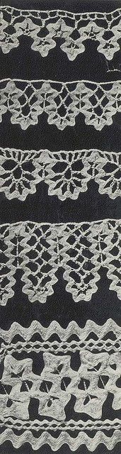 Five Patterns for Crochet Edgings using Ric Rac.