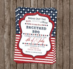 SALE 50% OFF Until July 4 - 4th of July Invitation by MillieMaeDesigns2012 on Etsy https://www.etsy.com/listing/233389777/sale-50-off-until-july-4-4th-of-july