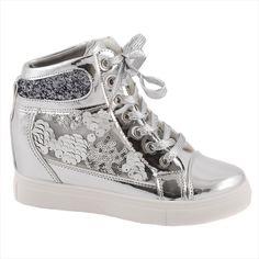 Sneakers cu siret 5308-SILVER - Reducere 55% - Zibra.ro