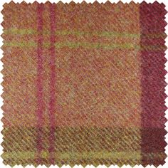 Sanderson Woodford Plaid is the largest design woven on a multi-coloured warp with a different striped pattern in the weft. This style is known as a Madras Check and creates a less formal look than traditional tartans.  Shown here in: Garnet/Olive.