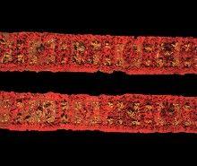 Paneles decorados del turbante del traje ceremonial. MCHAP 0962.