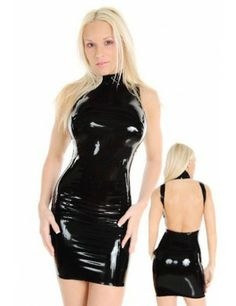 Cheap Halter Design Worthy Dress online - All Products,Sexy Lingerie,Vinyl & Leather Lingerie Sexy Dresses, Club Dresses, Sexy Outfits, Faux Leather Dress, Leather Dresses, Leather Halter, Leather Lingerie, Sexy Lingerie, Vinyl Dress