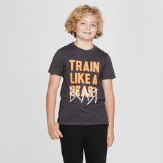 9b2fbd0872a Boys' Short Sleeve Train Like A Beast Graphic T-Shirt - Cat & Jack Black L