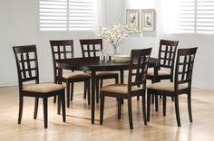 Dark Cappuccino Finish Contemporary Dinette W/Oval Dining Table