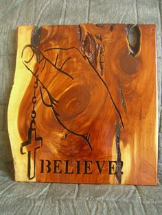 believe rosary wood carving