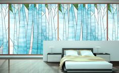 Abstract forest design Sheer window shade/ covering by designmeem Forest Design, Interior, Window Art, Sheer Window Shades, Curtains, Home Deco, Creative Living, Interior Design, Shade Cover