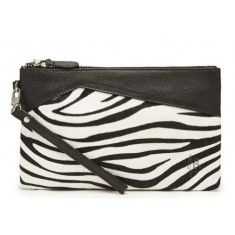 Zebra Print Leather MIghty Purse Charge on the Go. $109.99