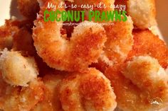 My recipe for quick easy and healthy coconut prawns that you don't deep fry. These are deliciously sweet, you wont be able to resist. mybrownpaperpackages.com
