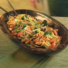 Vegetable Lo Mein - this dish is packed full of veggies! Has great flavor. Only 170 calories per serving.