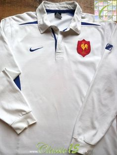 Relive France s 2003 2004 international season with this vintage Nike away  long sleeve rugby shirt 2ffe8087d
