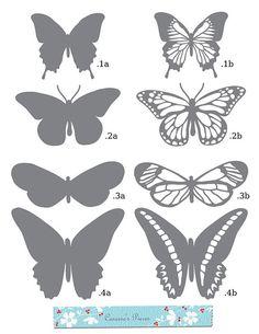 Las mariposas SVG y DXF archivos