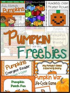 Freebie Friday - Pumpkins! Great list of FREE pumpkin activities!