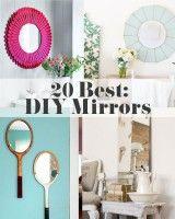 20 Best DIY Mirrors via www.theshabbycreekcottage.com