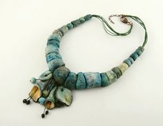 MegiMikos - Necklace -hand made sculpture- like forms, unusual jewelry