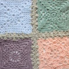 Lovely Lacy Joining Tutorial for putting together squares | AllFreeCrochetAfghanPatterns.com