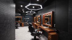 Modern Barber Shop, Best Barber Shop, Barber Shop Interior, Barber Shop Decor, Beauty Salon Interior, Salon Interior Design, Beauty Salon Decor, Beauty Salon Design, Salon Lighting