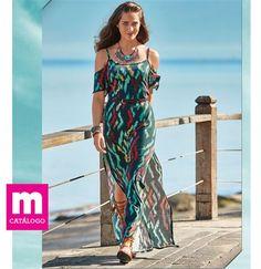 Vestido feminino longo modelo Ciganinha