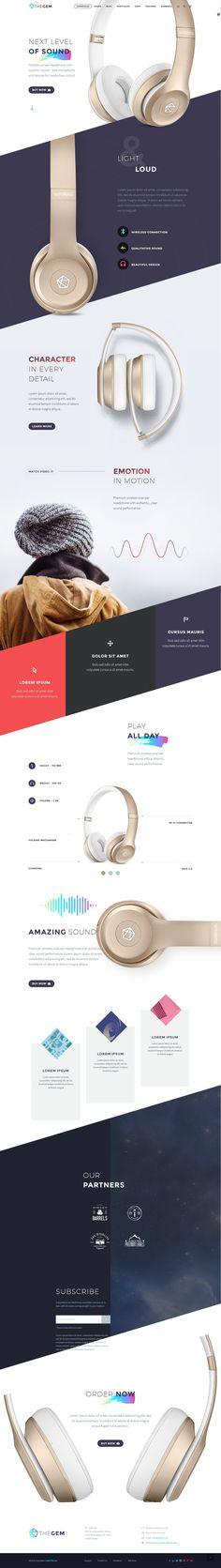 """다음 @Behance 프로젝트 확인: """"Product Landing - Template"""" https://www.behance.net/gallery/42996203/Product-Landing-Template"""