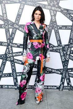 2/11/18: Kendall attends the Jimmy Choo x Off White dinner in New York.