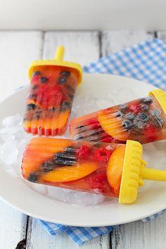 Iced Tea Fruit Popsicles made with fresh summer fruit & iced tea. #raw #vegan #paleo