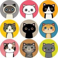 Cat+threewood+stickers+van+BERCADEAU+op+DaWanda.com