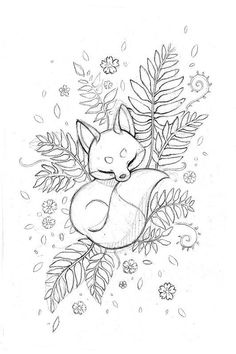 Photo) Sketches of a Fox Tattoo for Girls 2019 . - Photo) Sketches of a Fox Tattoo for Girls 2019 … – Photos) Fox Tattoo Sketches for Gir - Tattoo Sketches, Drawing Sketches, Tattoo Drawings, Drawing Art, Drawing Ideas, Sketch Ideas, Wolf Tattoos, Animal Tattoos, Cute Drawings
