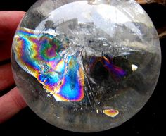 RAREST Russian Lemurian Quartz Rock Crystal Sphere