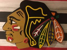Chicago Blackhawks 3D Multi-Layered Wooden Sign by DMCdesignsShop on Etsy https://www.etsy.com/listing/527916537/chicago-blackhawks-3d-multi-layered