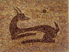 Handmade Mosaic of Deer