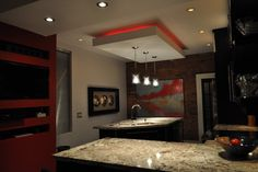 Modern and Colour make a statement! - modern - kitchen - toronto - Isabel Beattie @ K Cabinets Oakville