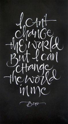 Quotes & Music. Non posso cambiare il mondo ma