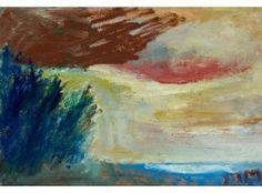 Mauno Markkula: Maisema Jalasjärveltä, öljy kartonkilevylle, 35x50 cm - Hagelstam K125