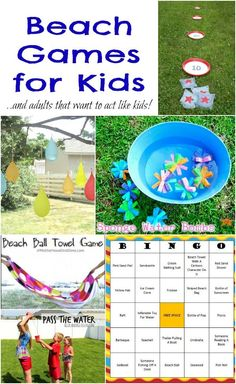 Beach Games & Water Activities You Can Play In Your Own Yard! http://www.momsandmunchkins.ca/2014/07/12/beach-games-kids/ #BeachGames #KidsActivities #SummerFun