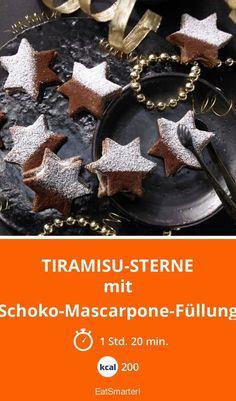 Tiramisu-Sterne - mit Schoko-Mascarpone-Füllung - smarter - Kalorien: 200 kcal - Zeit: 1 Std. 20 Min. | eatsmarter.de